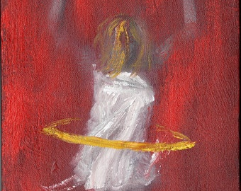 Hula Dancer. Original abstract figurative painting by Paul Clark