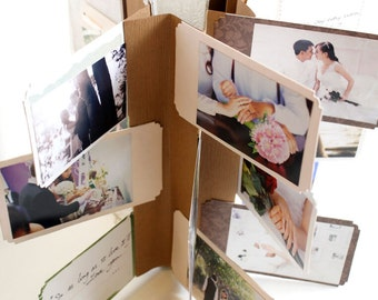 Fly Album A Moment in Time - Handmade Photo Album -  Scrapbook - Photo Book
