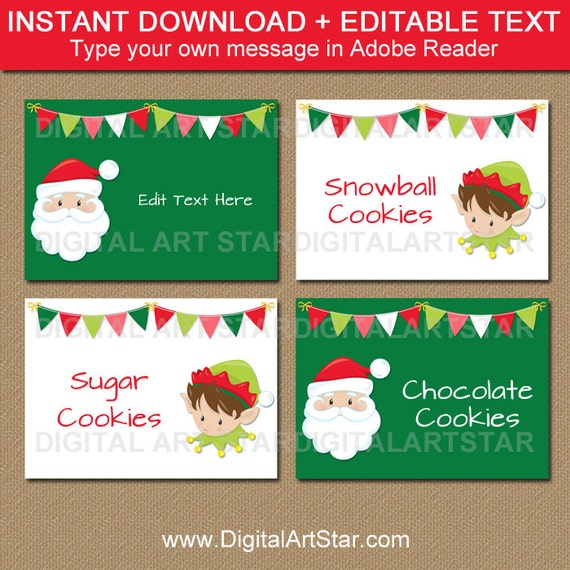 buffet food labels templates