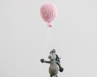 Horse Baby Mobile, Balloon Mobile, Horse Mobile, Pink Balloon Mobile, Balloon Nursery Hanging Mobile, Pink Gray Nursery Mobile, Blue Balloon