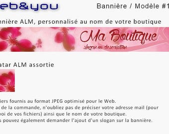 Custom banner, avatar and shop 'Floral'