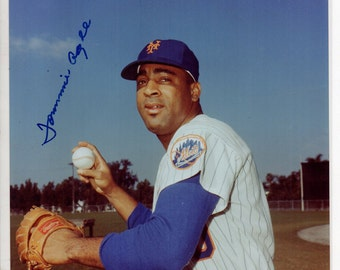 Tommie Agee Autographed 8X10 photo Mets