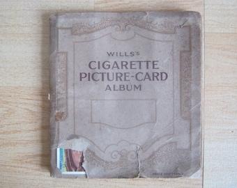 "1930s Wills cigarette picture card album ""Garden Hints"""