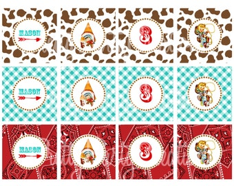 COWBOYS & INDIANS cupcake toppers - YOU Print