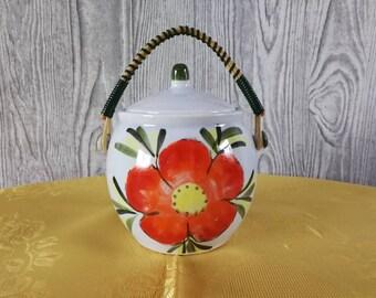 Jam jar with handle