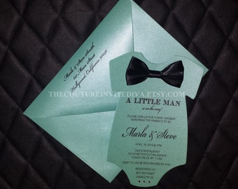 Bow tie invitations Etsy