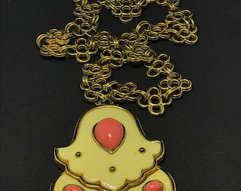 1977 Vintage Givenchy Coral Statement Necklace