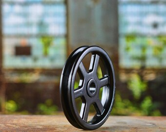 Black Pulley Wheel   Pulley For Light   Barn Door Hardware   Iron Pulley    Metal