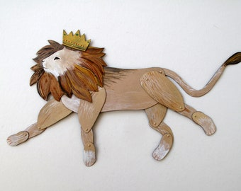 LION  / articulated decoration  / Hinged Beasts Series