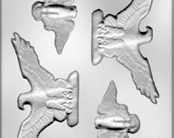 Eagle Assortment Chocolate Candy Mold Fourth of July Patriotic USA Soap Fondant Crafts
