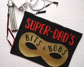 Superdad's Bits and Bobs zip bag/pouch/cosmetic bag/storage bag
