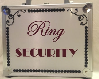 Black Bling Wedding Ring Security Briefcase