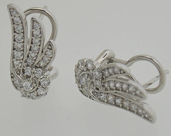Sterling Silver 925 Estate CZ Fancy Earrings