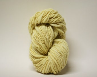 Thick and Thin Merino Yarn Handspun Wool Slub  Hand Dyed tts(tm) Merino Bulky Hollandaise 04