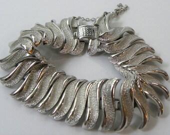 Stunning Coro bracelet, vintage designer bracelet, wide coro bracelet, huge silver link bracelet, Coro pegasus bracelet, old coro bracelet