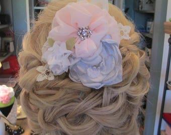 Bridal flower hair piece, wedding flower hair piece, flower headpiece, bridal flower clip
