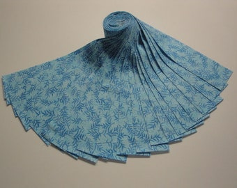 """Jelly Roll-""""Dark Blue Leaves"""" Fusion Collection by Robert Kaufman"""