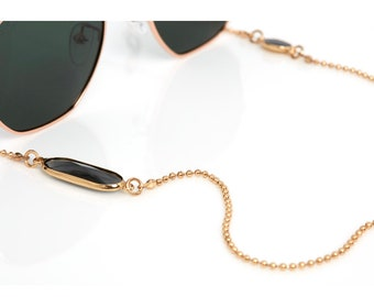 Glasses Chain and Sunglass Strap | Gold, Silver, Crystal Stone, Eyewear Accessories by SUNNY CORDS