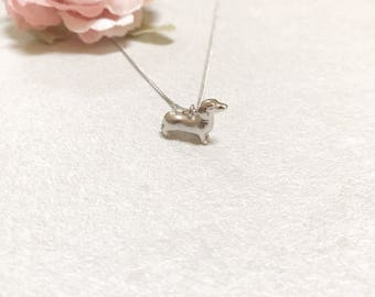 Dachshund Necklace ~ Silver/Gold