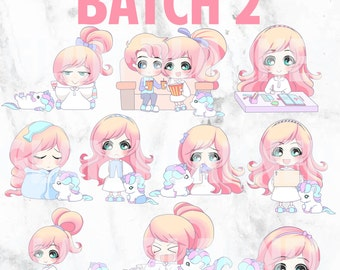 Batch 2 - Lolly and Pop 01 (Kawaii Planner Stickers)