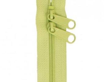 """40"""" Double Slide Handbag Zipper by Annie - Color CHARTREUSE"""