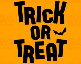 Trick or Treat Halloween SVG   Digital Cut File Vector Clipart