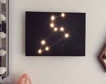 Light up star sign