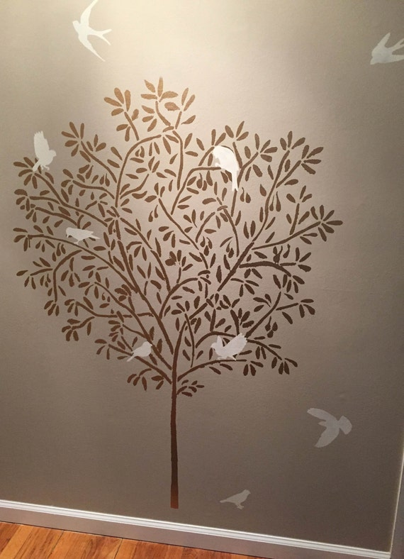 Items similar to stencil large olive tree wall stencil - Painting designs for walls in your home ...