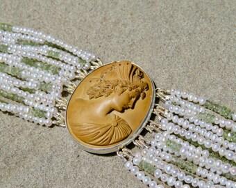 Gemstone Bracelet, Lava Cameo Jewelry, Goddess Psyche, Cameo Jewelry Vintage, Brooch, Vintage Lava Jewelry, Victorian Lava, Victorian Cameo