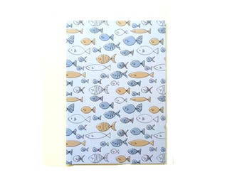 Fish Sketchbook / Fun Gifts / Sketchbooks / Cute Notebook / Pocket Notebook / Fun Gift Ideas / Jotter / Blank Pages / A5 Blank Notebook