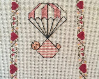 Personalised Hand Embroidered Baby Sampler