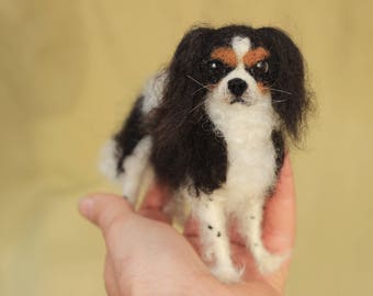 Made to order custom needle felted dog, memorial, portrait, wool sculpture, 11-12 month turnaround time