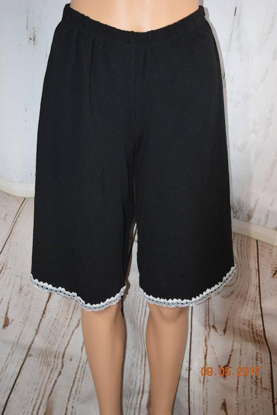 Narrow Lace Edged Pants - Wide Legs - Womens Custom