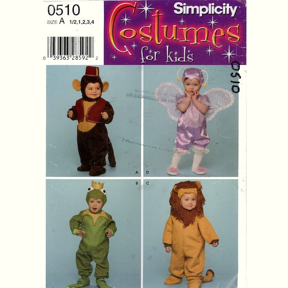 Toddler Halloween costume sewing pattern Simplicity 3594 or 0510 ...