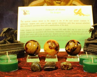 The Dragon - Treasure of Stones, Dragon Blood Candles, Septarian