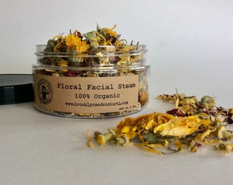 Organic Facial Steam - Floral Facial Steam - Organic Rose Facial Steam - Skin Detox - Face Steamer - Unclog Pores - Organic Lavender