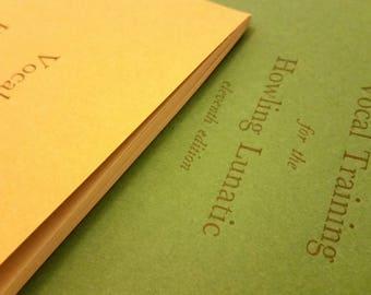 Personalised Planners/Diaries Letterpress Printed in Black Ink