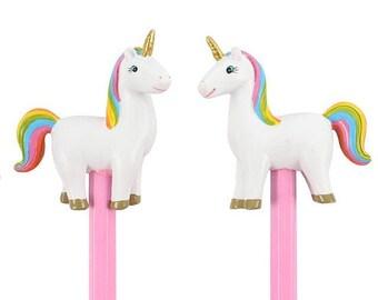 rainbow unicorn pencil, bullet journal accessories, planner accessories, school supplies, stationery, kawaii pencil, planner pencil