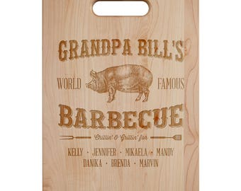 Grandpa's Barbecue Cutting Board - Engraved Cutting Board,Personalized Cutting Board, Wedding Gift, Housewarming Gift, Anniversary Gift