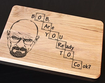 Breaking Bad cutting board, Let's Cook, Heisenberg, Walter white, Heisenberg cutting board, Walter White Cutting Board, Let's cook cutting