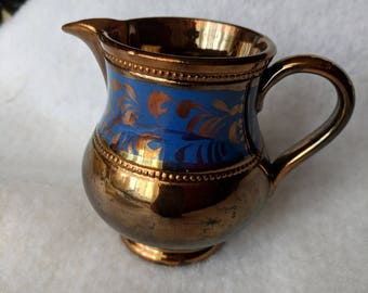 Gold and Blue Creamer
