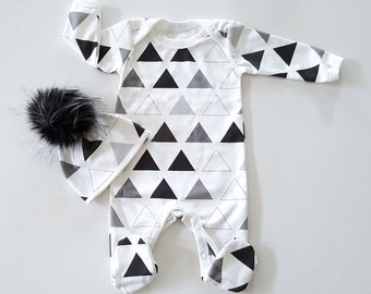 baby footie, ORGANIC, newborn outfit, baby footie pajamas, take home outfit, baby footie one piece