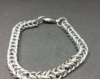 Men's Box weave chainmaille bracelet