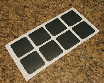 16 Square Reusable Chalkboard Labels