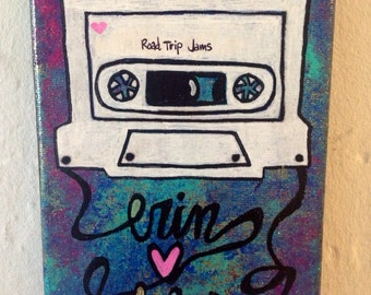 Personalized Mixtape painting wedding anniversary love