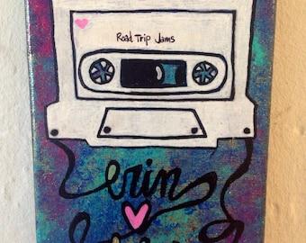 Personalisierte Mixtape Malerei Hochzeit Jahrestag Liebe
