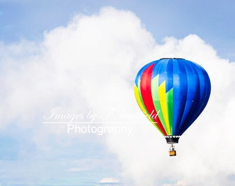 Balloon in the Clouds, Hot Air Balloon, Balloon Fiesta, Fine Art Photography, Fine Art Print