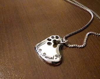 My Dog Rescued Me - Dog Necklace Pendant - Jewelry - Pet Jewelry - Rescue Dog - Jewelry Supplies
