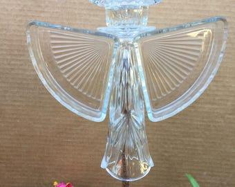 Garden Angel, Vintage Glass, Yard Art, Garden Decor