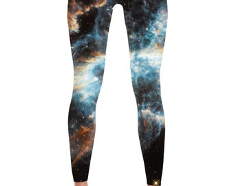 Galaxy Leggings - Universe Cosmic Galaxy Tights Yoga Nebula Workout Pants